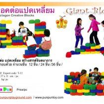 Giant Block บล็อคต่อแปดเหลี่ยม