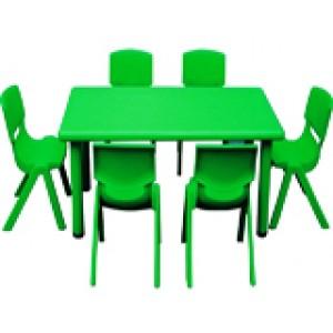 ชุดโต๊ะพร้อมเก้าอี้สำหรับเด็กปฐมวัย A2