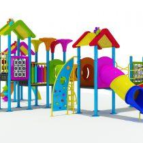 เครื่องเล่นสนามชุด  สวนสนุกสีรุ้ง Rainbow Dance