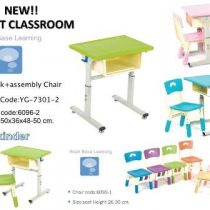 YG-7301-2  BBL SMART CLASSROOM FOR KINDERGARTEN – DESK WITH 1 ASSEMBLY CHAIR