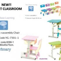YG-7301-1 BBL SMART CLASSROOM FOR PRIMARY SCHOOLS – DESK WITH 1 ASSEMBLY CHAIR