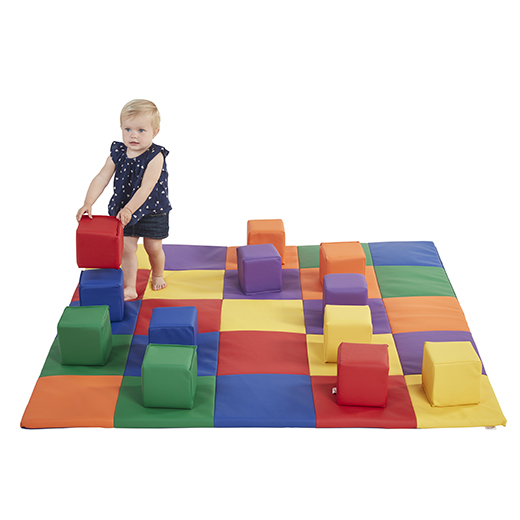 PATCHWORK TODDLER MAT AND BLOCKS