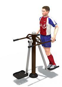 Fitness : เครื่องออกกำลังกาย แท่นยืนแกว่งตัว บริหารเอว สะโพก คู่