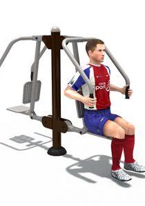Fitness : เครื่องออกกำลังกาย ผลักดันบริหารกล้ามแขน หน้าอก คู่