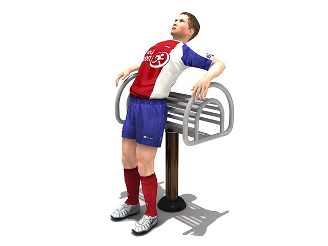 Fitness : เครื่องออกกำลังกาย นวดหลังคลายกล้ามเนื้อ