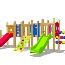 Wood Playground A2 : สนามเด็กเล่นไม้ A2