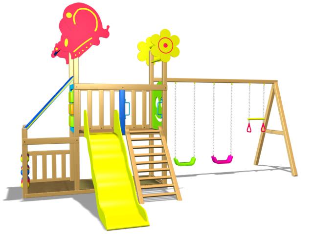 Wood Playground A3 : สนามเด็กเล่นไม้ A3