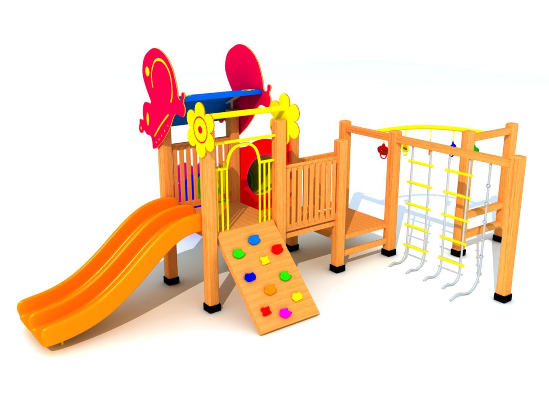 Wood Playground A5 : สนามเด็กเล่น A5