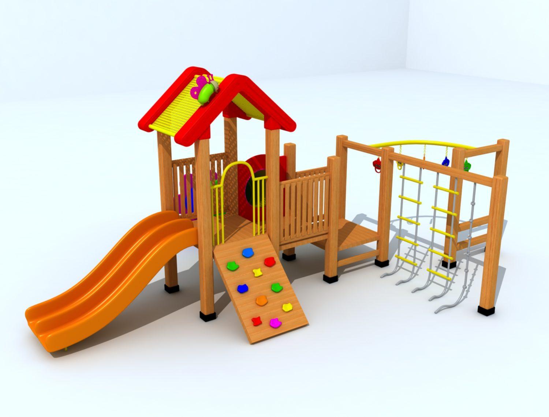 Wood Playground : สนามเด็กเล่นไม้ A6