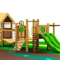Wood Playground : บ้านน้อยสะพานไม้ฝึกสมดุล