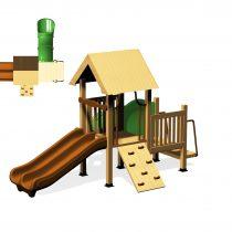 Wood Playground : กระท่อมน้อยอุโมงค์กระดานลื่น 1