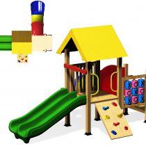 Wood Playground : กระท่อมน้อยอุโมงค์กระดานลื่น 2