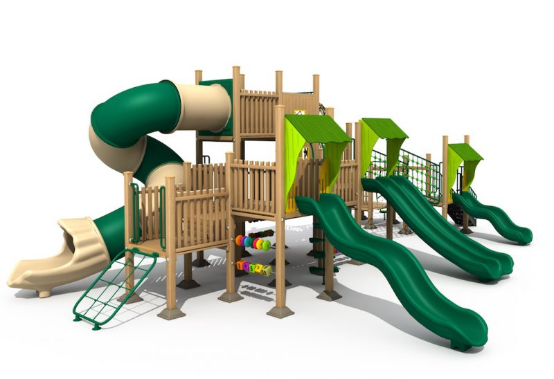 สนามเด็กเล่นไม้