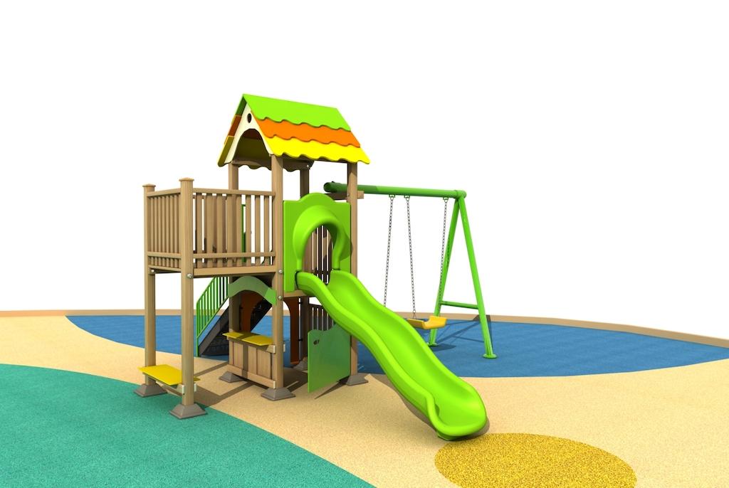 Wood Playground : สนามเด็กเล่นไม้ แบบใหม่