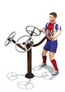Fitness : เครื่องออกกำลังกาย ล้อหมุนบริหารแขน-หัวไหล่