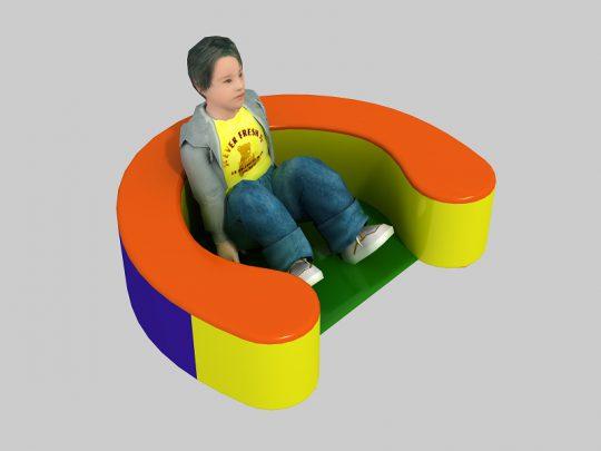 Half-circle seat