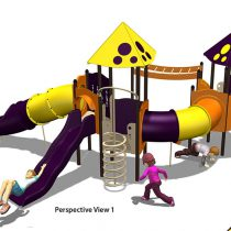HDPE Playground : หอประลองพลัง Bubble Tower
