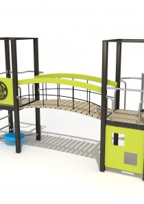 Wood Playground S1801 : สนามเด็กเล่นสะพานข้าม PRICE LEMON TREE