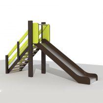 Wood Playground S1810 : สนามเด็กเล่นสไลด์เดอร์ทางเดี่ยว PRICE LEMON TREE