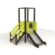 Wood Playground S1811 : สนามเด็กเล่นสไลด์เดอร์ทางเดี่ยวแบบที่ 2 PRICE LEMON TREE