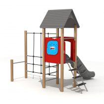 Wood Playground S1812 : สนามเด็กเล่นสไลด์เดอร์ปีนป่าย HAPPY LAND