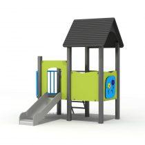 Wood Playground S1814 : สนามเด็กเล่นสไลด์เดอร์บ้าน HAPPY LAND