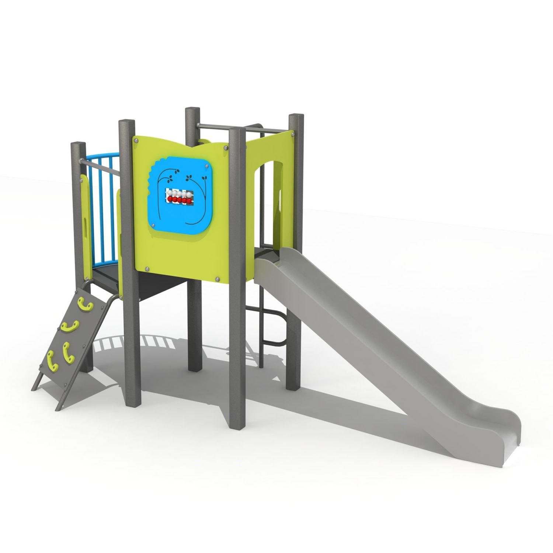 Wood Playground S1815 : สนามเด็กเล่นสไลด์เดอร์บ้านแบบ 2 HAPPY LAND