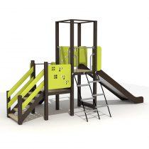 Wood Playground S1802 : สนามเด็กเล่นสไลด์เดอร์ 2 ทาง PRICE LEMON TREE