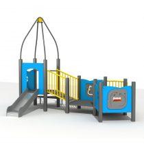 Wood Playground S1822 : สนามเด็กเล่นสไลด์เดอร์บ้านปราสาทน้อย HAPPY LAND