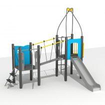 Wood Playground S1823 : สนามเด็กเล่นสไลด์เดอร์บ้านปราสาทน้อยสะพานข้าม HAPPY LAND