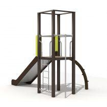 Wood Playground S1804 : สนามเด็กเล่นสไลด์เดอร์ 1 ทาง แบบที่ 2 PRICE LEMON TREE