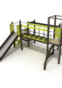 Wood Playground S1805 : สนามเด็กเล่นสไลด์เดอร์ สะพานข้าม PRICE LEMON TREE