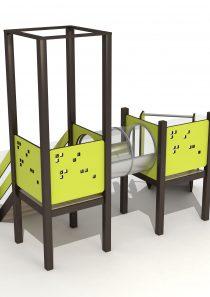 Wood Playground S1806 : สนามเด็กเล่นสไลด์เดอร์ ลอดอุโมงค์ PRICE LEMON TREE