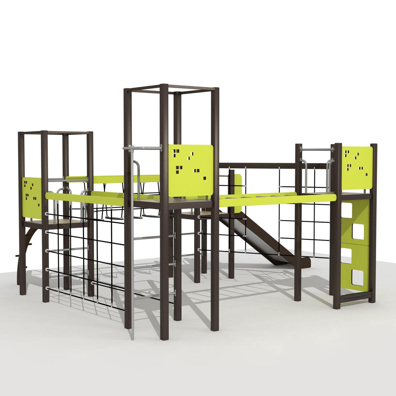 Wood Playground S1808 : สนามเด็กเล่นสไลด์เดอร์ ฐานผจญภัยเล็ก PRICE LEMON TREE