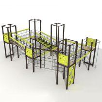 Wood Playground S1809 : สนามเด็กเล่นสไลด์เดอร์ ฐานผจญภัยเล็ก PRICE LEMON TREE