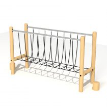 Wood Playground T14 : ปีนป่ายสะพานเชือก