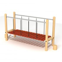 Wood Playground T19 : ปีนป่ายสะพานข้าม