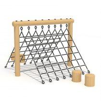 Wood Playground T02 : Climbing Rope ปีนป่ายเชือกทรง A เพื่อ Viking ตัวน้อย