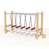 Wood Playground T22 : ปีนป่ายสะพานข้าม Viking