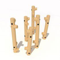 Wood Playground T24 : ปีนป่ายไต่ข่อนไม้