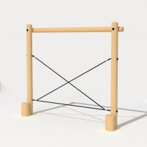 Wood Playground T09 : Monkey Bars บาร์ปีนป่ายขึ้นลงแบบ 3